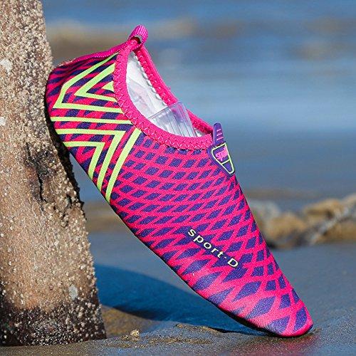 XIANV Männer Frauen Aqua Schwimmen Schuhe Weiche Wasser Schuhe Strand Angeln Breathable Sommer Outdoor Barfuß Lila
