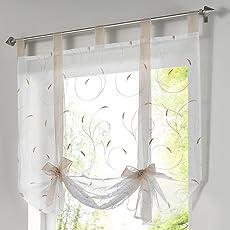 Souarts Blumen Transparent Gardine Vorhang Raffgardinen Raffrollo  Schlaufenschal Deko Für Wohnzimmer Schlafzimmer Studierzimmer