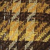 Z6409 Linton Tweed-Stoff, Meterware, Gelb/Schwarz /
