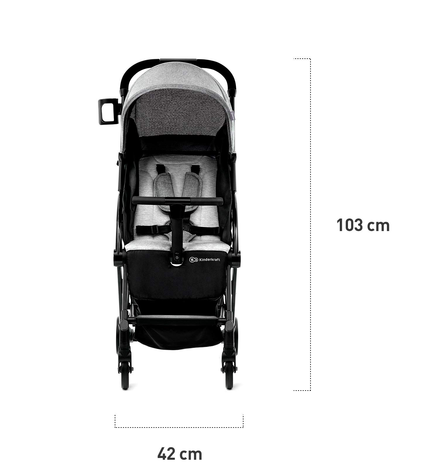 Kinderkraft Lightweight Stroller LITE UP, Baby Pushchair, Buggy, Compact Folding, Ajustable Footrest, Lying Position, with Accessories, Rain Cover, Footmuff, from Birth to 3.5 Years, 0-15 kg, Rosa kk KinderKraft Mechanism for easy folding with one hand After folding, the stroller resembles a briefcase You do not have to stop and move around the stroller to make eye contact with the child 7