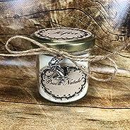 Vasetto con candela personalizzabile San Valentino Festa Mamma Grazie Auguri Compleanno Anniversario Ti amo Ti