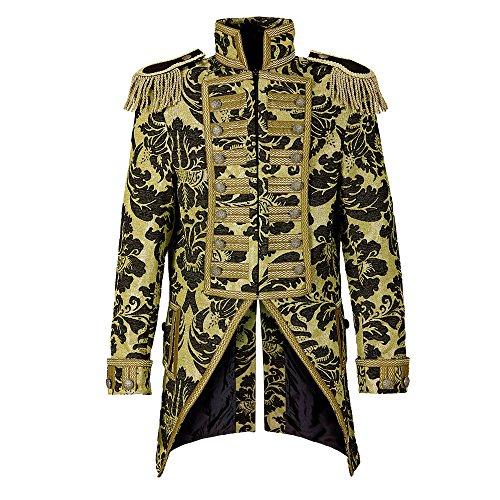 en Frack Jacquard Parade kostüm, L (Schwarz Halloween-kostüm-parade)