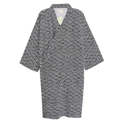 Bademantel Japanischer Kimono Morgenmantel Pyjamas Saunamantel Nachtwäsche Schlafanzug Robe Negligee Nachthemd V-Ausschnitt Lingerie Locker Sleepwear Bikini-Cover-up mit Tasche (Robe Sleepshirt)