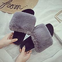 Zapatillas, Nueva Casa Encantadora, Fluffy Rp, Moda Coreana, Grueso Inferior, Arrastre La Palabra, Dentro Y Fuera De La Sala De Frío Del Mopwomen Desgaste Zapatillas