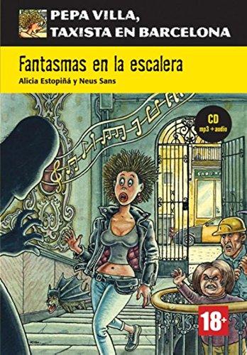 Portada del libro Serie Pepa Villa. Fantasmas en la escalera + CD (Pepa Villa Taxista Barcelo)