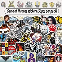 BEAUTY4U-Stickers - 50pcs TV Series Game of Thrones Stickers Used to Decorate The Luggage Skateboard Laptop Computer Bicycle Graffiti Stickers (AZ022-50pcs)