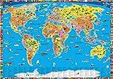 Wereldkaart kinderen politiek/bestel per set 5425013069960