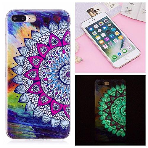 Cover iphone 7 Plus / iphone 8 Plus ,Custodia iphone 7 Plus / iphone 8 Plus,Cozy Hut Ultra Sottile Custodia Nottilucenti Luminoso Gel Silicone per iphone 7 Plus / iphone 8 Plus , Ultra Slim Anti Slip Sole indonesiano