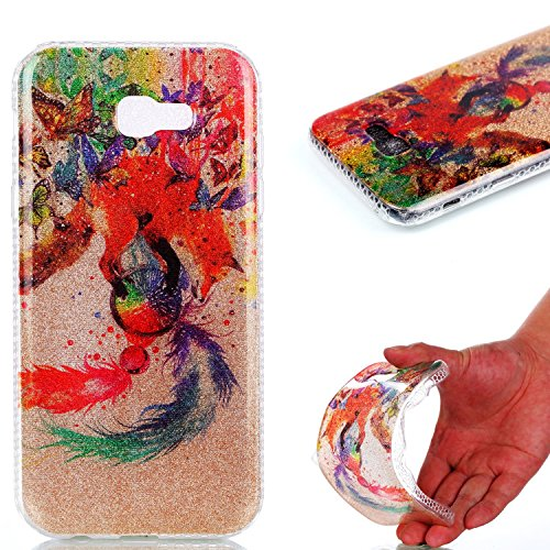 Samsung A3 2017 Case,Samsung A3 2017 TPU Case,Samsung A3 2017 Cover,Case for Samsung A3 2017 with 4.7 inch,Cool 3D Romantic Flower Animal Cartoon Design Pattern Rubber Frame Colorful Flexible TPU Soft Silicone Bumper Case Cover for Samsung A3 2017