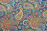 Vorhangstoff, Baumwolle, Paisley-Motiv, 140 cm breit,