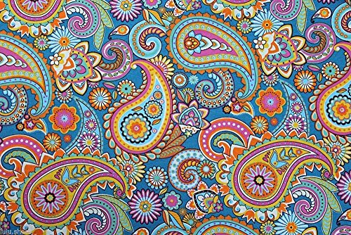 blue-paisley-upholstery-curtain-cotton-fabric-material-140cm-55-wide-sold-by-the-metre