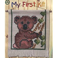 My First Kit Counted Cross Stitch Embroidery Set for Children and Beginners Koala Bear