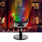 Lysignal 2 in 1 Kaleidoscope Projection Light LED Projector Light Waterproof Landscape Spotlight for Christmas/Festival/Party/Holiday/Kids Room/Home Decor (Red+Green)