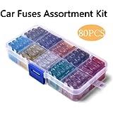80pcs Standard Car Fuses Assortment Blade Fuse for Auto Car Truck 2A/3A/ 5A/ 7.5A/10A/ 15A/ 20A/ 25A/ 30A/ 35A with…