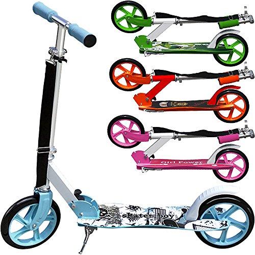 Scooter Skater Boy Roller Tretroller Kinderroller Cityroller Kinder 205mm klappbar Umhängegurt