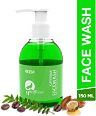 Mcaffeine Neem Face Wash Cleanser With Argan Oil & Vitamin E For Men And Women - 150 ml