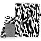 Fintie Samsung Galaxy Tab 4 7.0 Hülle Case - Slim Fit Folio Kunstleder Schutzhülle Cover Tasche mit Ständerfunktion für Samsung Galaxy Tab 4 7.0 T230 T235 (7 Zoll) Tablet, Zebra Schwarz