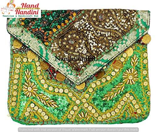 Ein perfektes Weihnachtsgeschenk indische ethnische Clutch, Banjara Tasche, handgemachte Boho Bag, Urban Tribal Clutch, Vintage indische Stoff Tasche, schöne Weihnachten Clutch Bag Frauen Geldbörse