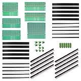 ALLDREI - Lot de 100 prototypes de circuit imprimé double face avec soudure à effectuer soi-même, 5 tailles compatibles avec les kits Arduino