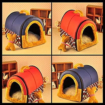 ACTNOW Pet house 2-in-1 and Classic Portable Washable Sofa Non-Slip Dog Cat Cave House Beds with Removable Cushion Warm… 3