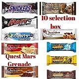 Snickers, Mars, Quest, Bounty, Grenade Carb Killa...
