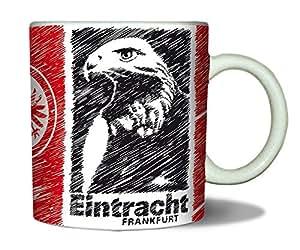 Bertels 1/050512 Eintracht Frankfurt Kaffeebecher Scratched