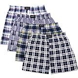 yiJiA 4/8 Pack Herren Boxershorts Webboxershorts Hipster American Style Boxer Unterhosen Baumwolle - Mehr Farbe Zum Auswahl (4, XL)