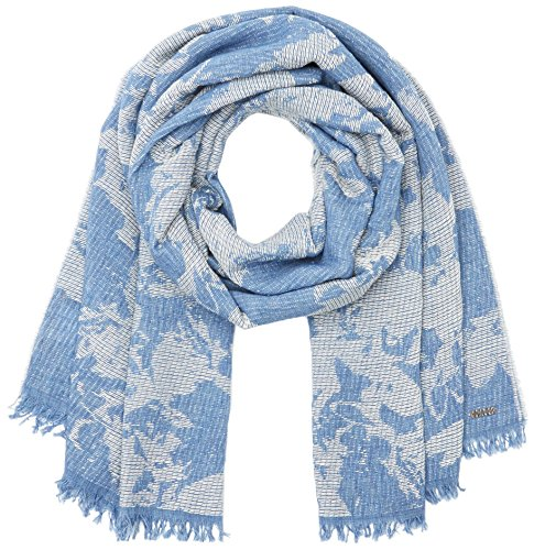 BOSS Casual Naflage, Bufanda para Mujer, Azul (Dark Blue), Talla única (Talla del fabricante: STCK) BOSS Casual