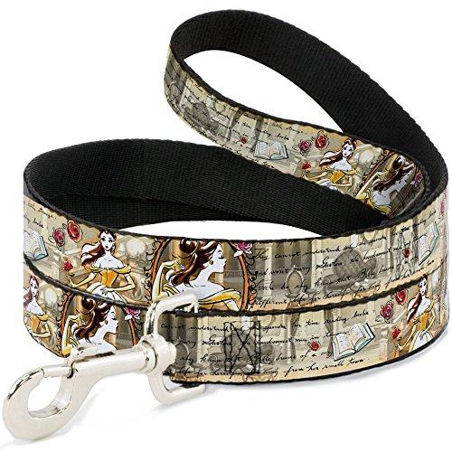 buckle-down-dl-wdy072-wide-05-belle-sketch-poses-story-script-dog-leash-4