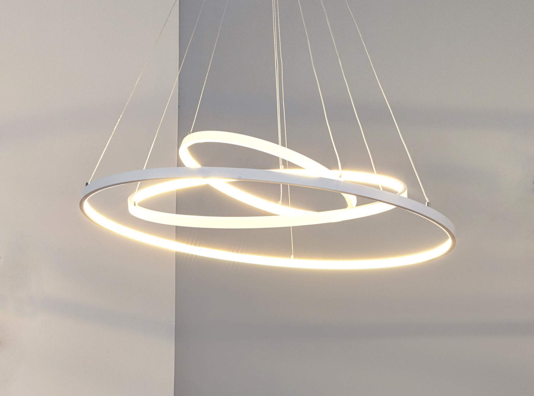 TECNO&LED – Lampadario a sospensione LED moderno 3 anelli di design a luce fredda