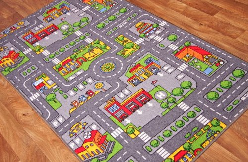 childrens-fun-colourful-roads-play-mat-80cm-x-120cm-by-the-rug-house