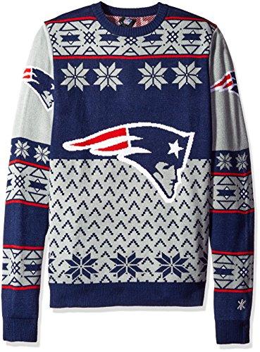 Klew NFL Big Logo Pullover XL New England Patriots -