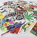 Tony US 100pcs Random Assorted Decal Stickers for Skateboard Snowboard Vinyl Graffiti Laptop Luggage Car Bike Bicycle