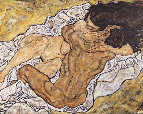 1art1 86950 Egon Schiele - Die Umarmung, Die Liebenden II, 1917 Poster Kunstdruck 50 x 40 cm