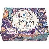 """Creibo CBOX004 - Caja Cartón decorada """"Oh Happy Day"""""""