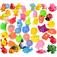Techhark® Bath Toys for Baby / Infants, 12 Pcs Set, Chu Chu Toys Water, Animal / Fish / Duck Shape Toy, BPA Free & Non…