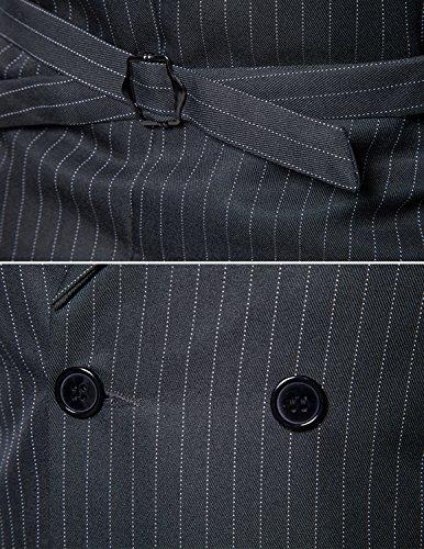 Leisure Herren Anzugweste Gentleman Basic Mode doppelt breasted drei Knöpfe Weste Grau