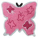 Mucky Fingers Kinder Mädchen Teppich / Vorleger mit Schmetterling-Design (One Size) (Schmetterling)