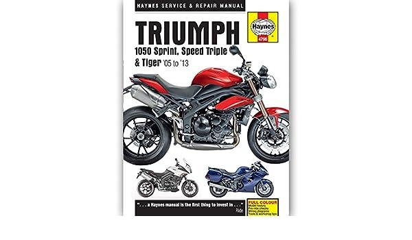 Triumph Speed Triple 1050 EFI 2009 Haynes Service Repair Manual 4796