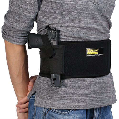 Einstellbares Tactical Elastisches Belly Band Pistolenholster verdecktes Pistolenhalfter versenkbarer justierbar GrÃße des Lebens bis zu 44 Bauchband Taille Gürtelholster -