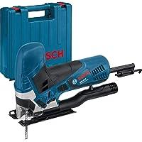 Bosch Professional  060158G000 Scie Sauteuse GST 90 E (650 W, 1 Lame, Set d'Aspiration, Pare-éclats, Profondeur de Coupe dans le Bois : 90 mm, dans Coffret) Bleu