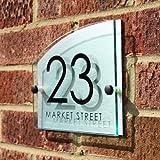 House Number Sign / Address Plaque Modern with Door Number