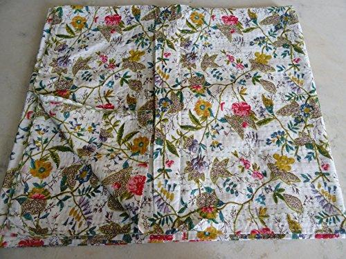 Tribal asiatischen Textilien Multicolor Paisley Paradise Print King Size Kantha Quilt, Kantha Decke, Bett, King Kantha Tagesdecke, Bohemian Betten Kantha Größe 228,6x 274,3cm 03 (Quilts Für King-size-bett)