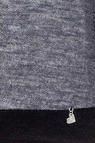 Rebel Queen Damen Pullover BLAUSE Anthrazit