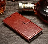 D-KANDY Vintage Stylish Pu Leather Flip Wallet Cover Case For Sony Xperia XA1 ULTRA 6.0' - Brown