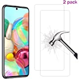 XINKOE [2-Pack] Screen Protector for Samsung Galaxy A51, Ultra slim HD 2.5D Pro-Fit Premium Tempered Glass Screen Protector
