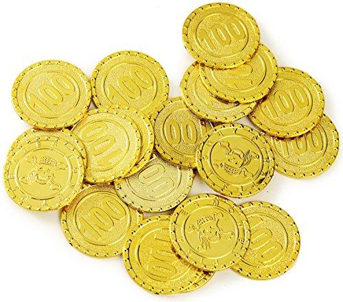 Piratentaler 20 stück Goldschatz Geld Spielzeug Gold Münzen Taler Spielgeld Piraten - Schatztruhe Piraten Kostüm