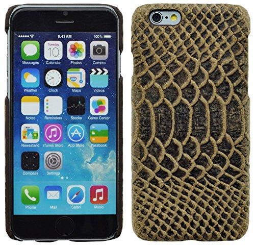 Original Suncase® Coque en cuir (Housse de protection) pour iPhone 6S/iPhone 6S Plus Schlangen Optik Braun