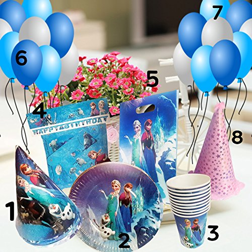 Maasha Birthday Plates Cups Disposable Set Theme Party Supplies Disposable Decoration Items For Girls - Set of 10 Pcs