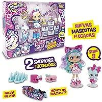 Shoppies Serie 9 - Wild Style Super Pack Con Muñeca, 1 Figura Shoppets y Shopkins + Accesorios (Giochi Preziosi HPKC9111)